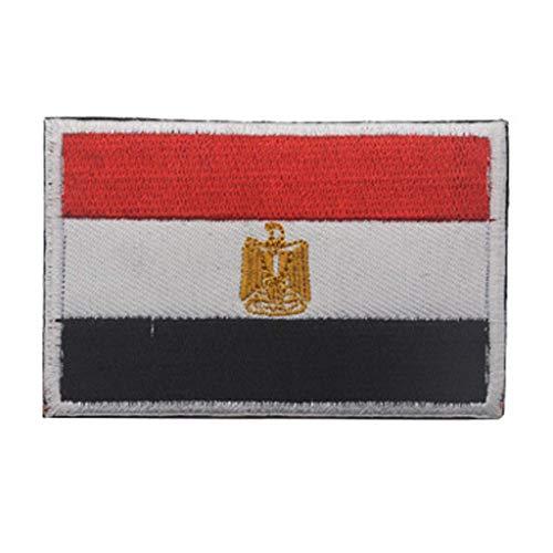 ShowPlus Egypt Flag Patch Military Embroidered Tactical Patches Morale Shoulder Applique