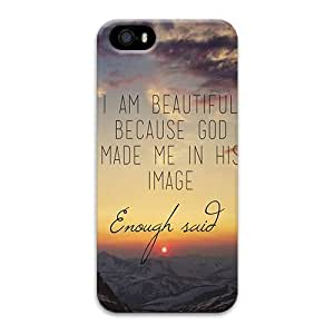 iPhone 5 Case,5S Case Cover,Christian Quotes 3D PC Material Design for Apple iPhone 5 5S from iCustomonline Phone Protector DIY men women or girls boys