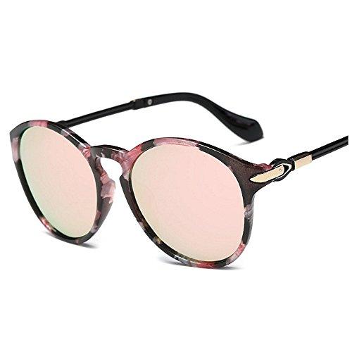 las sol Gafas Gu Gafas Lady's Marco de mujeres la Flor Charmful de Rimmed clásicas sol Color para flor Sunglasses Peggy Rosado UV para de coloridas Protección Viajar conducir polarized 6PxwzqP
