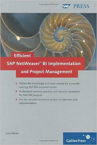 Efficient SAP NetWeaver BI Implementation and Project Management ...