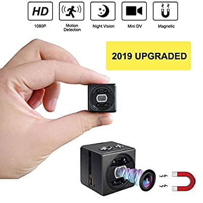 Mini Spy Camera cop cam-HD 1080P Portable Small Nanny Cam Surveillance Magnetic Security Camera with Night Vision/Motion Detection Perfect Indoor/Outdoor Surveillance Camera Home Car Office