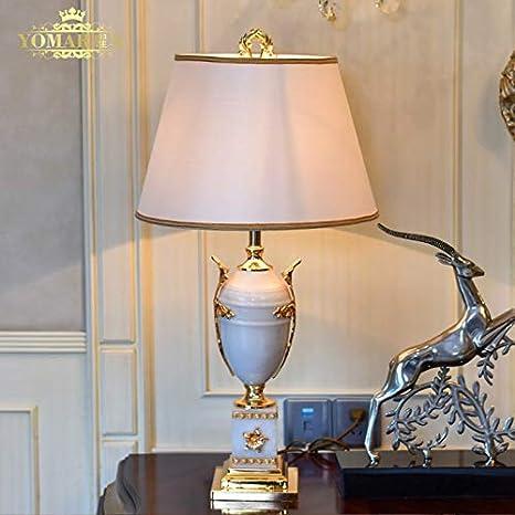 Lámpara de mesa, mármol de lujo europeo Lámpara de mesa ...
