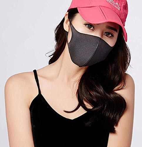 3 Pack Unisex Mouth Mask Adjustable Anti Dust Face Mouth Mask,Black Cotton Face Mask for Cycling Camping Travel