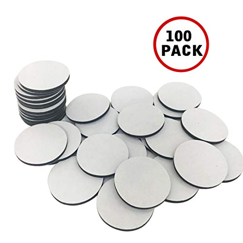 SBYURE 100pcs Strong Adhesive Double Sided Black Foam Tape,High Sticky Mounting Pad(Round)