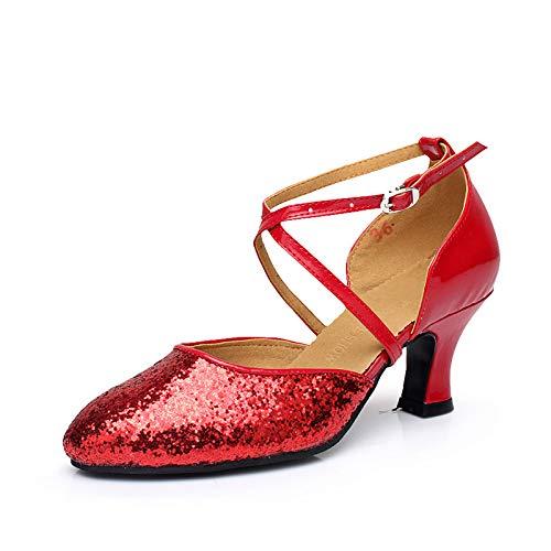 調べるここに不良品レディース ダンスシューズ ヒール5.5cm 室外履き スタンダード タンゴ ジャズ ステージ 舞台 ソシアル 兼用靴