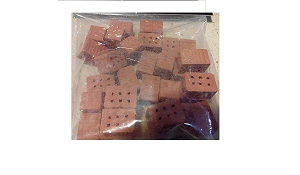 Pack 140 gramos de medios ladrillos miniatura construcción ...