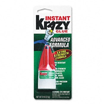 (Krazy Glue Advanced Formula, Extra Strong, Durable, Precision Tip-0.18 oz)
