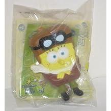 SpongeBob SquarePants Lost in Time Airplane Pilot Aviator Nickelodeon Burger King Kids Meal Figurine Toy 2005