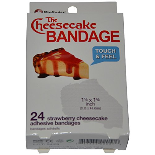 BioSwiss Novelty Bandages Self-Adhesive Funny First Aid, Novelty Gag Gift (24pc) (Cheesecake)]()