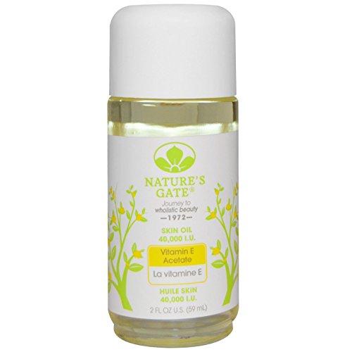 2 Oz Natures Gate (Nature's Gate, Vitamin E Acetate Skin Oil, 40,000 I.U., 2 fl oz (59 ml) - 2pc)