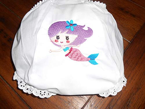 Darling Bloomers - Darling Baby Bloomer/Diaper Cover with Cute Mermaid Embroidered