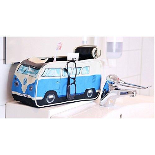 vw volkswagen t1 camper van toiletry wash bag blue. Black Bedroom Furniture Sets. Home Design Ideas