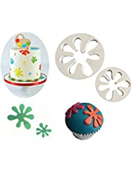 (Set of 2)The Easiest Hand Cookie Ever Cutter Set,Hand Love Sign Cookie Cuttert,Cup Cake Decorating Gumpaste Fondant Mould,Splat-Shape Cutters