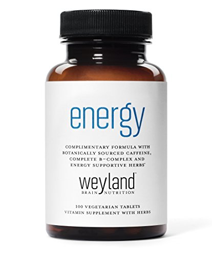 Weyland  Energy   Complimentary Formula W  Botanically Sourced Caffeine  Complete B Complex And Energy Supportive Herbs