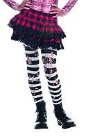 White Striped Tights Costume Accessory