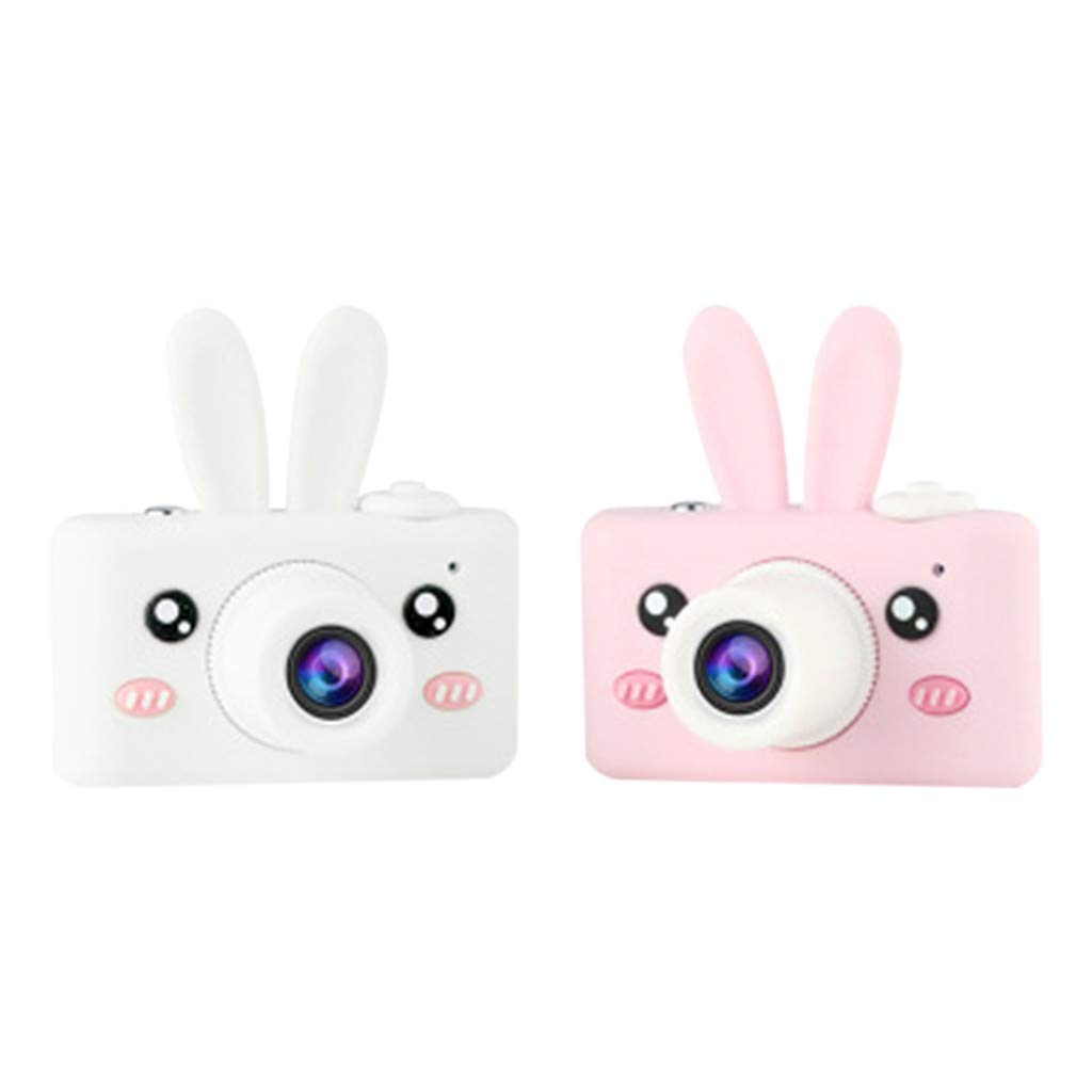 Nesee Kids Toys Camera for 3-6 Year Old Girls Boys, Compact Cameras for Children, 8MP HD Video Camera Creative Gifts (White) by Nesee (Image #2)