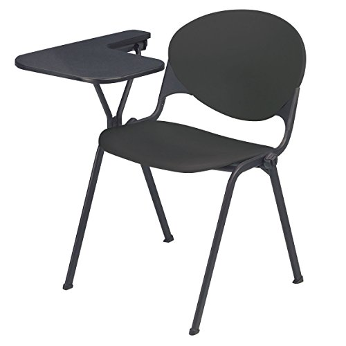 KFI Seating Polypropylene Stacking School Chair with Writing Tablet, Charcoal Finish, Right Tablet by KFI Seating