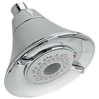 American Head 1660.717.002 Flowise 3 Showerhead con función de ahorro de agua, cromo