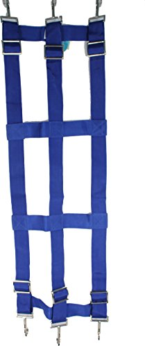 Partrade poly web stall guard blue 46x18 inch