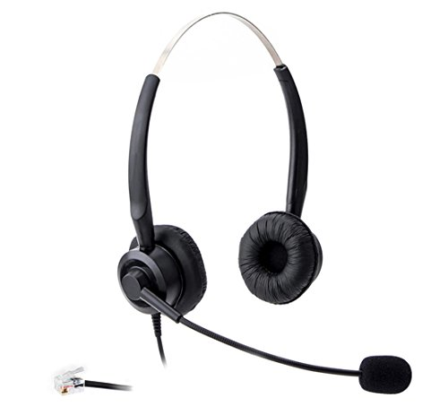 Audicom H201CSB Binaural Call Center Headset Headphone with Mic for