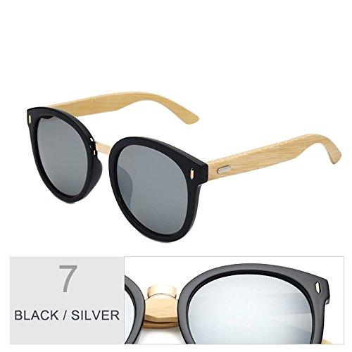 Retro Uv400 Sol De Bambú Macho TIANLIANG04 Gafas De Gafas Sol Moda Gafas Mujer Blanco De De Unisex Verde Silver Gafas De Black Oculos Madera Mujeres Hombre Gafas Gafas xqT7Xwf7n0