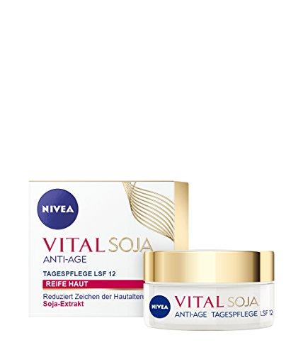 Nivea Vital Soja Anti Age Tagespflege, Gesichtspflege, LSF 12, 1er Pack (1 x 50 ml)