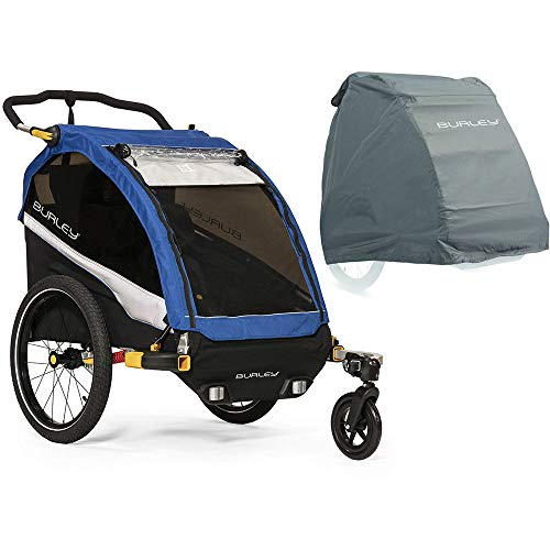 - Burley D'Lite Bike Trailer - Old School Blue with Storage Cover