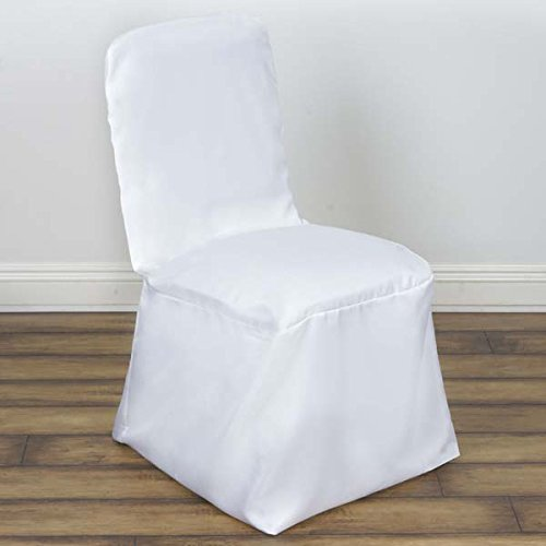Efavormart 50pcs White Square Top Banquet Chair Cover For Wedding Event Party Banquet