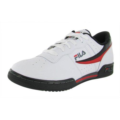 Fila Mens Sneaker Da Allenamento Originale Bianco / Nero / Rosso Papavero