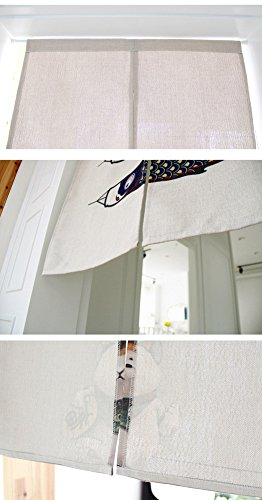 Japanese Noren Doorway Curtain Tapestry with Tree of Life (31.5''x35.4'') by Zegoo (Image #3)