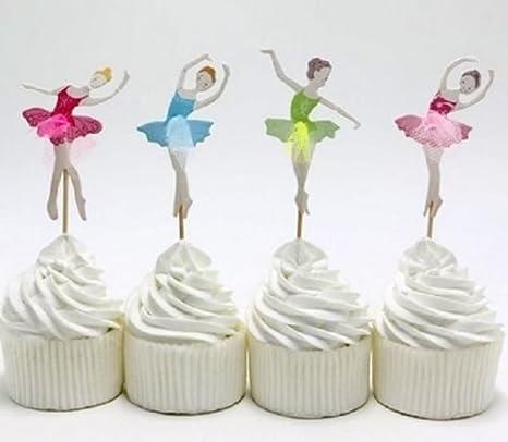 Decoracion Para Tarta De Bailarina Para Cupcakes De Cumpleanos
