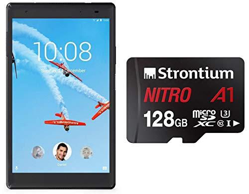 Lenovo Tab4 8 Plus Tablet (8 inch, 64GB, Wi-Fi + 4G LTE + Voice Calling), Aurora Black + Strontium Nitro A1 128GB Memory Card