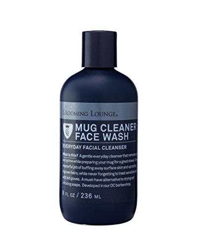 Grooming Lounge Mug Cleaner Face Wash For Men - Daily Facial Cleanser, 8 ounce