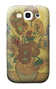 S0214 Van Gogh Vase Fifteen Sunflowers Case Cover for Samsung Galaxy S3