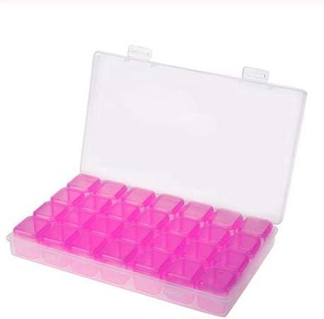 CGS2 28 ranuras ajustable de plástico vacía caja de almacenamiento de herramientas del clavo arte de la joyería caja del organizador del almacenaje del sostenedor de la joyería del sostenedor Caja de: