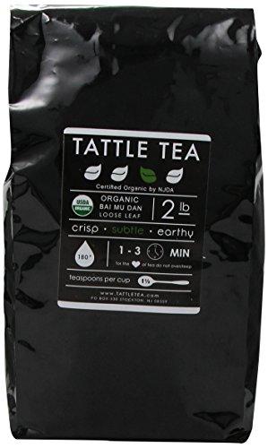 Tattle Tea Organic Bai Mu Dan White Tea, 2 Pound