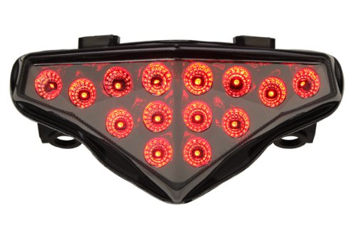 (Integrated Sequential LED Tail Lights Smoke Lens for 2012-2016 Kawasaki Ninja 650)