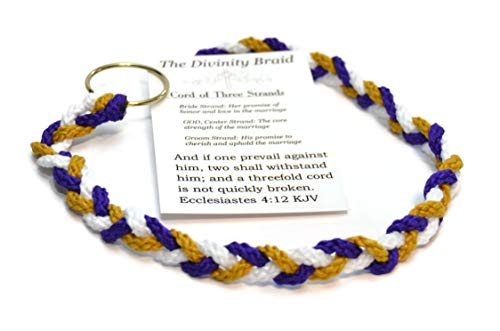 A Cord of Three Strands Traditional Style by DIVINTY Braid #DivinityBraid #CordOfThreeStrands #GodsDivinityBraid #UnityKnot #MarriageBraid #GodsUnityKnot #GodsKnotBraid #DivinityKnot #Cordof3 ()