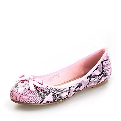 del Rosa del Luz pedal zapatos dedo ocio y arco del otoño pisar redondo zapatos del pie Primavera g8Xaw6
