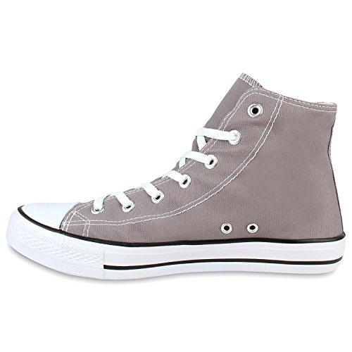 Herren Grau Übergrößen Unisex Damen Flandell high Sneaker Stiefelparadies qxXSEw0RX