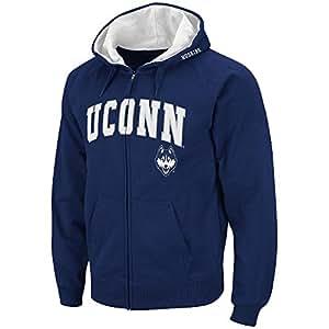 Mens NCAA UConn Huskies Full-zip Hoodie (Team Color) - 3XL