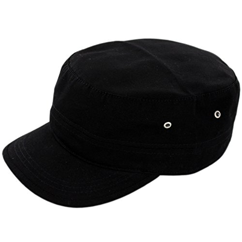 Adult Military Hat (Duolaimi Army Cap for Unisex Adult (Black))