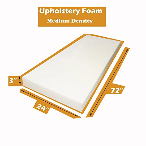 Foam Padding (Mybecca Upholstery Foam Standard Cushion (Seat Replacement, Sheet, Foam Padding), 3