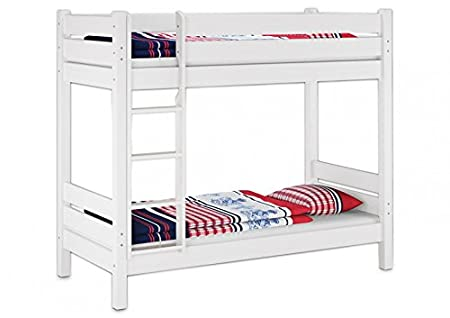 Etagenbett Trennbar : Erst holz etagenbett für erwachsene weiß nische