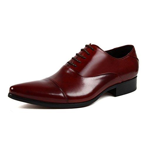 Farbe Männer wies Red Hochzeit Schuhe Single Fashion UK9 größe Herrenschuhe Kleidung formelle Schuhe Lederschuhe Schwarz Tide Herren Business Breathable brown EU45 Lederschuhe 5Rxt0wqZ