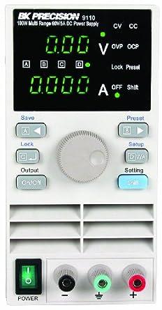 B&K Precision 9110 Multi Range DC Power Supply, 100W, 5A, 60V