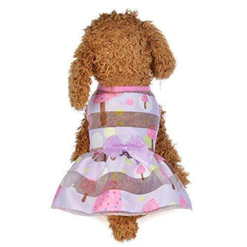 LVYING Summer Colorful Princess Dress Dog Costumes Pet Clothes]()