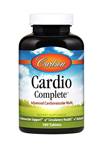 Carlson - Cardio Complete, Advanced Cardiovascular Multivitamin, Heart Health, Circulatory Support, 180 Tablets ()