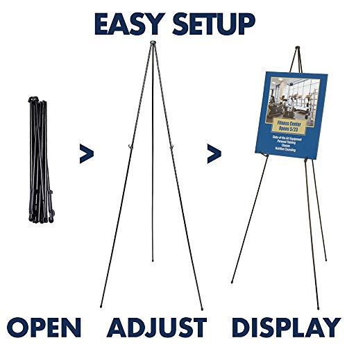 Quartet Easel, Instant, Portable, Tripod, Base 63'' Max. Height, Supports 5 lbs. (29E) by Quartet (Image #1)
