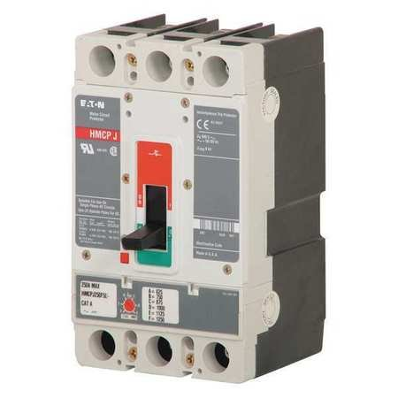 HMCPS015E0C - Thermal Magnetic Circuit Breaker, HMCPS Series, 600 VAC, 250 VDC, 15 A, 3 Pole, DIN Rail, Panel by Eaton Cutler-Hammer